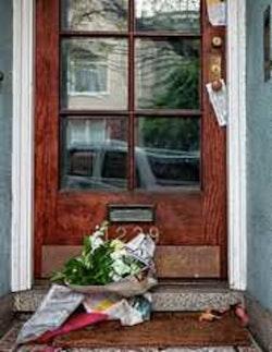 Flowers at a door