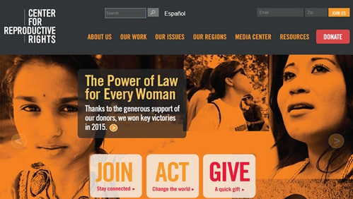 Center for Reproductive Rights homepage