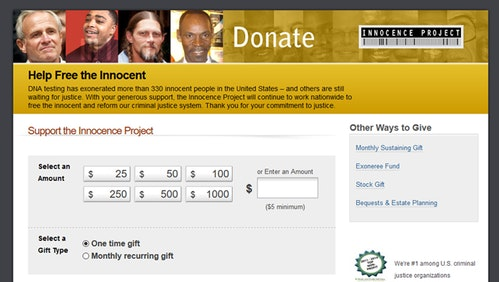 Innocence Project Donation Form