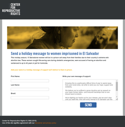 Center for Reproductive Rights Donation Form