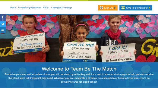 Team Be The Match Landing Page