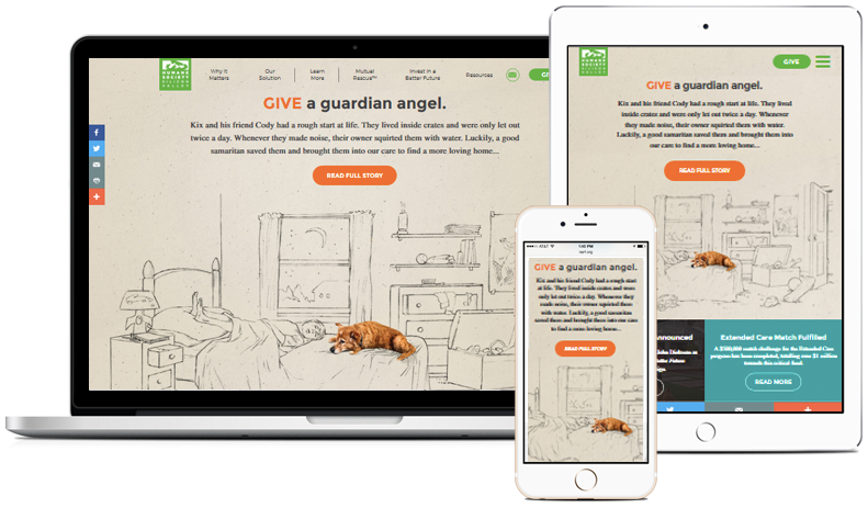 Humane Society of Silicon Valley Responsive Website