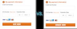 Google Optimize Donation Form Experiment