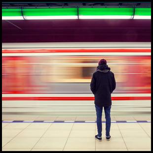 Man at Subway