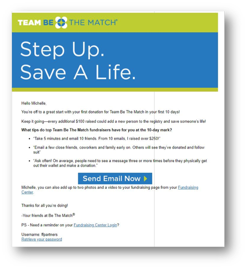 Team Be The Match Email Template