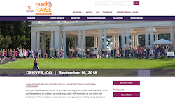 Living Beyond Breast Cancer Reach and Raise Landing Page