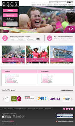 UVA Fundraising landing page