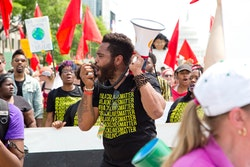 Black Lives Matter protesters marching in Washington