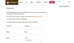 Pet Partners Contact Form