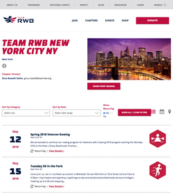 Team RWB Event List