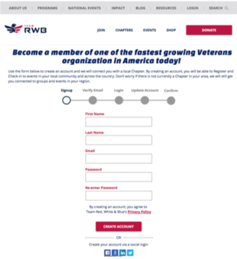 Team RWB Join Page