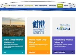Active Minds Website Menu