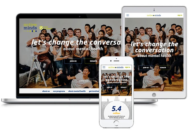 Active Minds Responsive Website