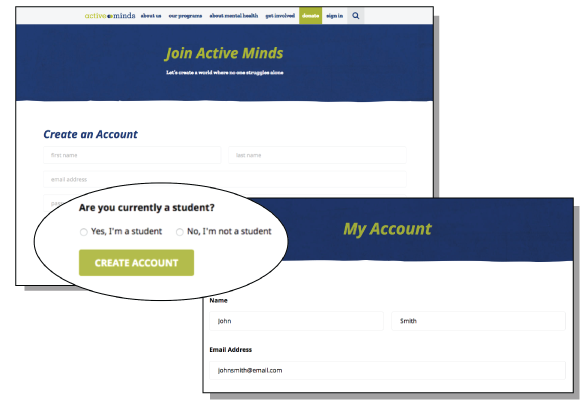 Active Minds Account Creation