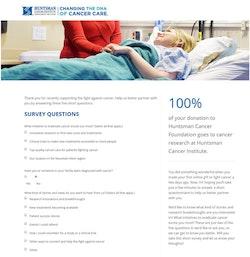 Huntsman Cancer Foundation Survey
