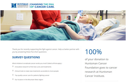 Huntsman Cancer Foundation Survey