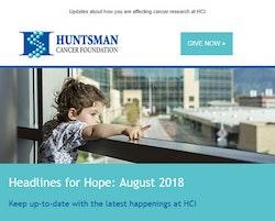 Huntsman Cancer Foundation Email Header