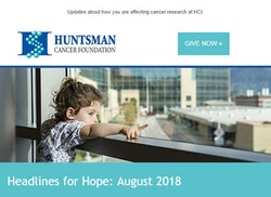 Huntsman Cancer Foundation Email Header