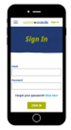 Pet Partners Sign In Box on Mobile Phone