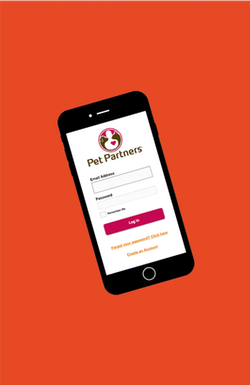 Pet Partners Log In Form on Phone