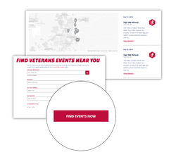 Team RWB Search for Events and Map