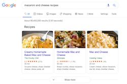 Recipe View with Search Schema