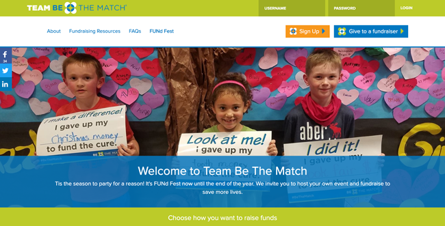 Team Be The Match Homepage