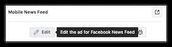 Facebook Ads Edit Option