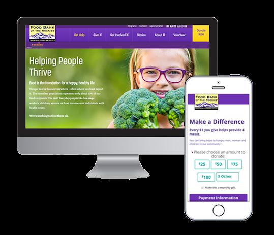 Food Bank of the Rockies Responsive Homepage