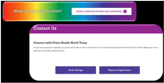 Prism Health North Texas Color Contrast