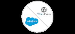 WordPress and Salesforce Logos