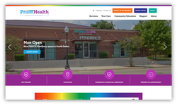 website homepage with a rectangle around a link via mouse free navigation