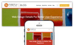 example of a responsive website on desktop and mobile