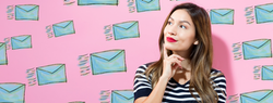 Woman thinking about email deliverability