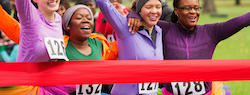 Women completing a charity race