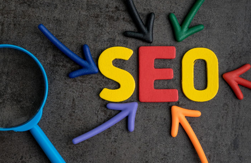 arrows pointing to seo