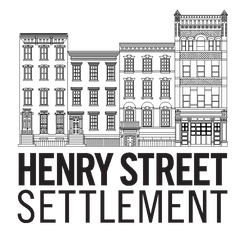 Black and white business building with Henry Street Settlement written on the bottom