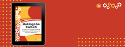 red banner with Making the Switch guide cover on a black ipad