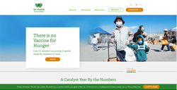 SF Marin Food Bank Website Home Page
